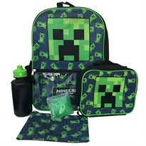 Школьный рюкзак Bioworld Крипер Майкрафт (Minecraft Creeper Back To School Backpack 5 Pc Set) купить