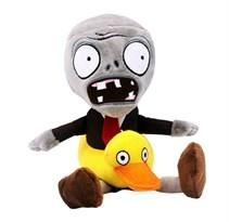 Мягкая игрушка Зомби с кругом в виде утки 30 см (Plants vs Zombies) купить в России с доставкой
