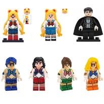 Набор из 7 фигурок совместимых с Лего Сейлор Мун (Sailor Moon) купить