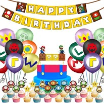 Украшения на День Рождения Супер Марио