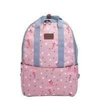 Розовый рюкзак-трансформер с фламинго