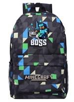 """Рюкзак """"Like a boss"""" из Minecraft (Майнкрафт) с геометрическим принтом купить в России"""