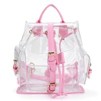 Прозрачный рюкзак (лямки розового цвета) купить в России
