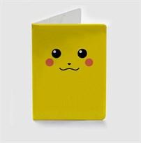 Желтая обложка для паспорта Покемон Пикачу (Pokemon Pikachu) купить