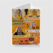 Оранжевая обложка для паспорта Билли Айлиш (Billie Eilish) купить