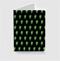 Обложка для паспорта с паттерном лого Билли Айлиш (Billie Eilish) купить