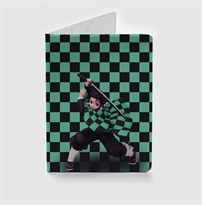Обложка для паспорта с Танджиро из Клинок рассекающий демонов (Demon Slayer: Kimetsu no Yaiba) купить