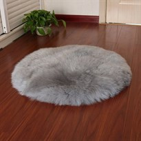 Коврик круглый серый