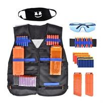 Тактический жилет с очками и маской для оружия Нерф (Nerf) купить