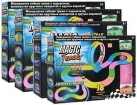 Конструктор Magic Tracks 1144 деталей. Игрушка, светящаяся дорога, гоночная трасса. Купить в Москве