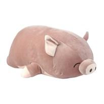 Мягкая игрушка подушка Свинка (коричневая) 80 см купить в России
