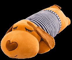 купить Мягкая игрушка подушка спящая рыжая Собака