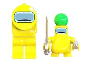 Фигурка Желтый Импостер совместима с лего купить