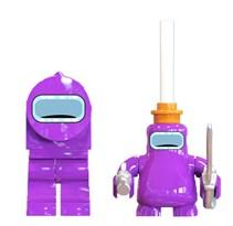 Фигурка Фиолетовый Импостер Амонг Ас совместима с лего купить