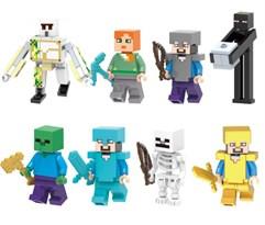 Набор из 8 фигурок героев Майнкрафт (Minecraft) совместимых с Лего