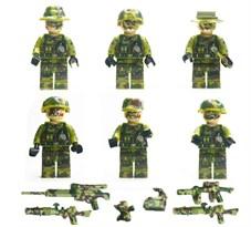 Набор из 6 фигурок военных ПАБГ (ПУБГ / PUBG) совместимых с Лего купить