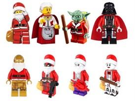 Набор Новогодних фигурок персонажей кино совместимых с лего купить