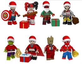 Набор новогодних фигурок персонажей Marvel и DC совместимых с лего купить