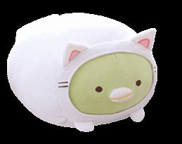 Мягкая игрушка Penguin из аниме Sumikko Gurashi в костюме кошки купить в России