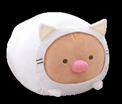 Мягкая игрушка Тонкацу из аниме Sumikko Gurashi в костюме кошки купить