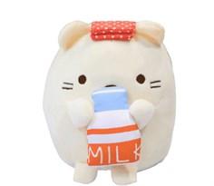 Мягкая игрушка Neko из аниме Sumikko Gurashi с молоком купить
