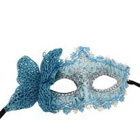 Венецианская маска с бабочкой (Цвет Голубой) купить