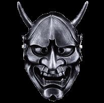 Черная маска Ханья для Хэллоуина купить в России