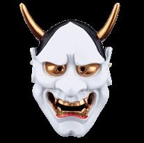 Белая маска Ханья для Хэллоуина купить в России