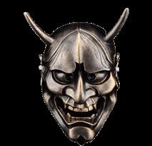 Бронзовая маска Ханья для Хэллоуина купить