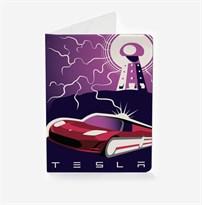 Обложка для паспорта Tesla Motors Poster заказать
