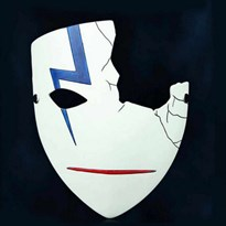 Маска Хэя из аниме Темнее черного (Darker than Black) с синей молнией купить