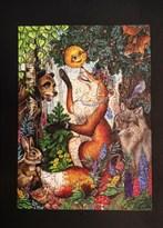 Деревянный пазл животные Колобок Puzzloman Russian Fairy Tale Kolobok 151 элемент купить в Москве