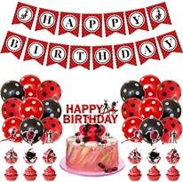 Украшения для Дня рождения Леди Баг (Lady Bug) купить