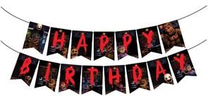 Флажки на День Рождения 5 ночей с Фредди