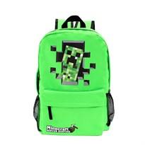 Рюкзак с рисунком из Minecraft (Майнкрафт) зеленого цвета купить