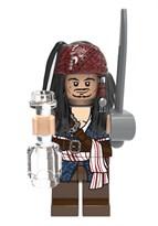 Фигурка совместимая с Лего Джек Воробей со шпагой и бутылкой Пираты Карибского моря купить