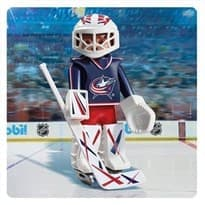 Двигающаяся фигурка NHL Вратарь Коламбус Блю Джекетс