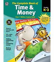 Книга тетрадь для детей Время и Деньги (Carson Dellosa Complete Book of Time and Money Workbook for Kids)