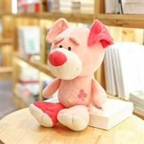Плюшевая игрушка розовая собака (30см)