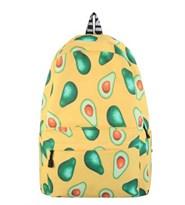 Желый рюкзак с принтом Авокадо купить в России с доставкой