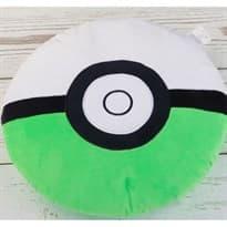 Мягкая игрушка Покебол Зелено-белый (Pokeball 32 Х 32 см)