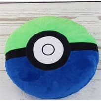 Мягкая игрушка Покебол Зелено-синий (Pokeball 32 Х 32 см)