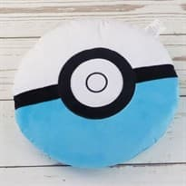 Мягкая игрушка Покебол Бело-синий (Pokeball 32 Х 32 см)