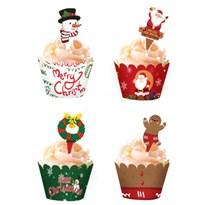 Набор украшения для кексов Новый год 24 шт купить в России с доставкой