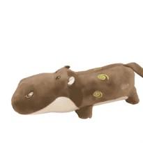 Подушка коричневый Бегемот с узорами (38 см) купить в России с доставкой