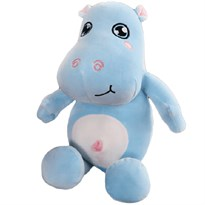 Плюшевая игрушка голубой Бегемотик (50 см) купить в Москве