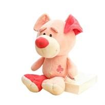 Плюшевая игрушка розовая собака (30см) купить в России
