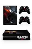 Набор наклеек с артом Ведьмак (Witcher) для приставки Xbox One купить