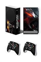 Набор наклеек с артом Ведьмак (Witcher) для приставки Xbox Series S купить