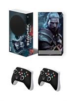 Набор наклеек Ведьмак Геральт (Witcher) для приставки Xbox Series S купить